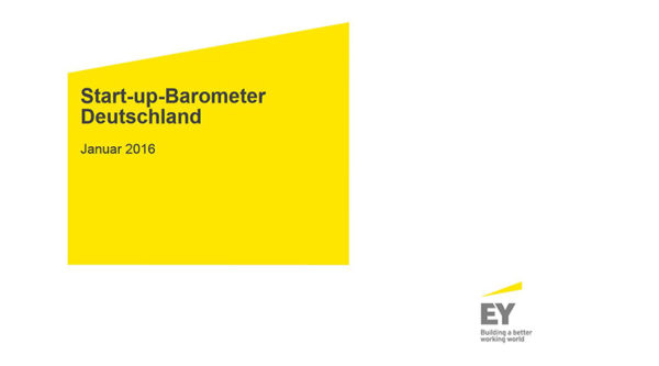 Start-up-Barometer Deutschland – Januar 2016