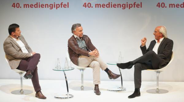 40. mediengipfel mit Wolf Bauer und Nico Hofmann – Der Talk