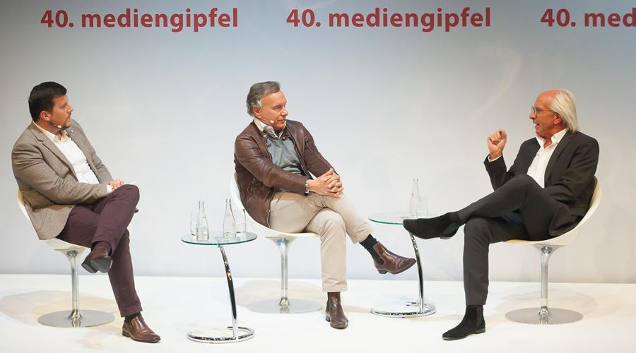 40 mediengipfel Wolf Bauer Nico Hofmann
