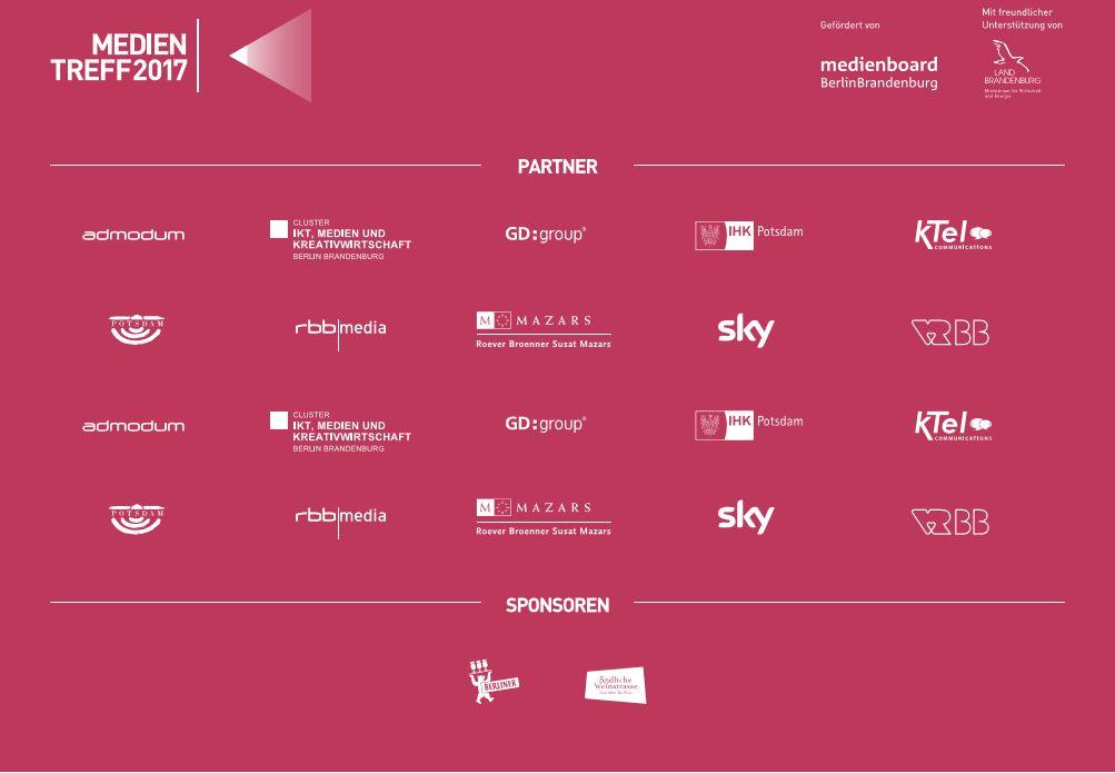 Medientreff 2017 Partner und Sponsorenwall