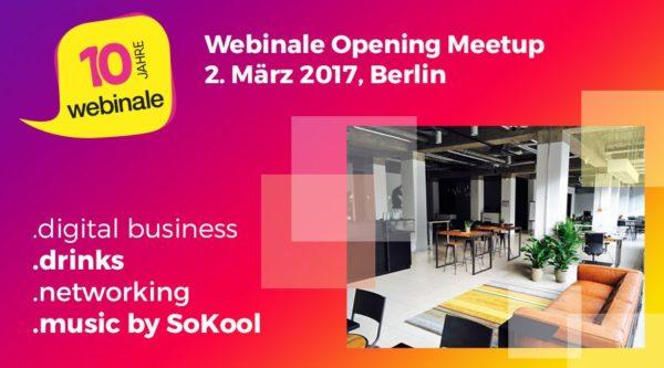 Software & Support lädt zum Webinale Opening Meetup