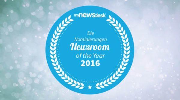 """Mynewsdesk zeichnet """"Newsroom of the Year 2016"""" aus"""