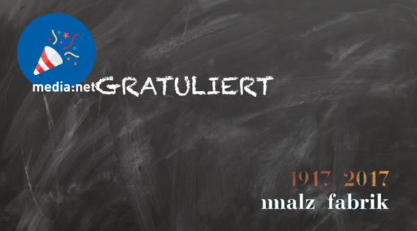 GRATULIERT: Die Malzfabrik feiert ihre 100