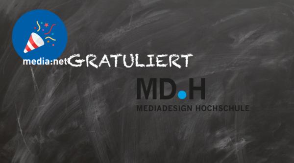 30. Geburtstag und neuer Standort – media:netGRATULIERT der Mediadesign Hochschule