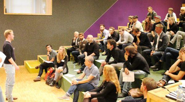 startup:netCLUB mit Chiara Sommer (HTGF), Filip Dames (Cherry Ventures) und Arnulf Keese (e.ventures)