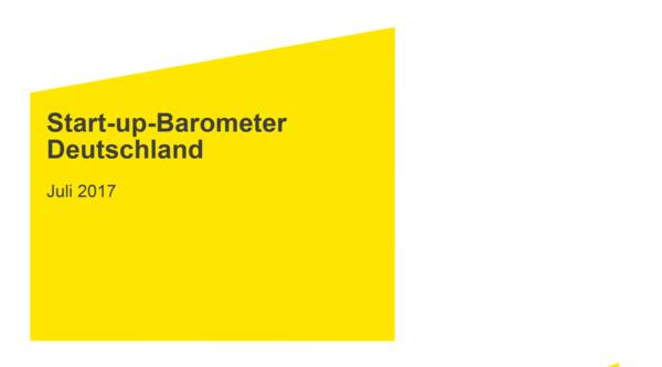 EY veröffentlicht Startup-Barometer