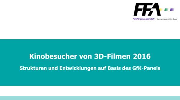 FFA: Immer mehr Kinobesucher von 3D-Filmen