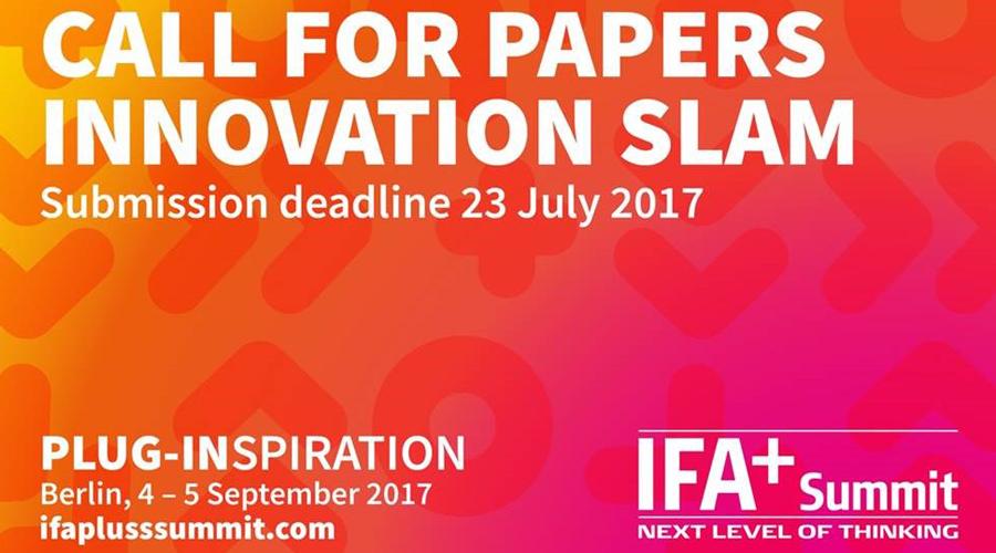 Jetzt Bewerben Innovation Slam Auf Dem Ifa Summit Medianet