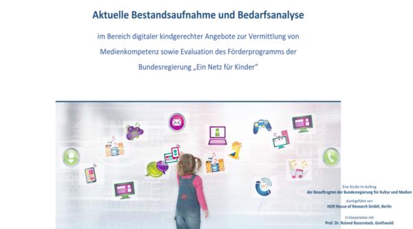 Studie zu digitalen Angeboten für Kinder