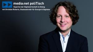 media:net PoliTisch mit Staatssekretär Christian Rickerts (SenWEB)