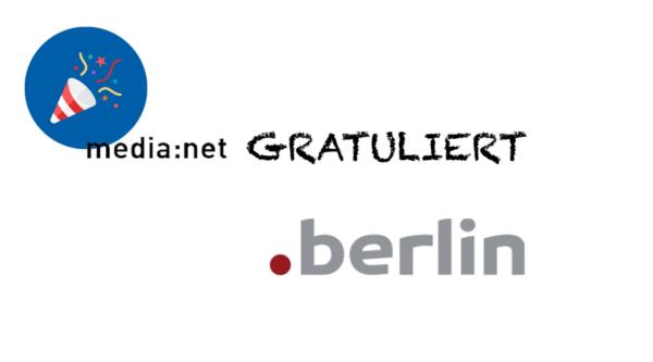 media:net GRATULIERT: 5 Jahre .berlin