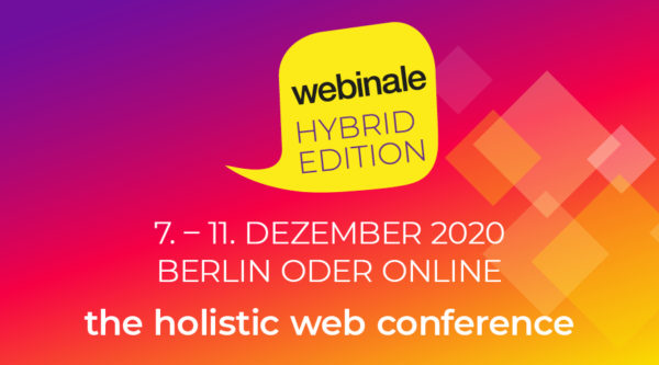 media:net COOP: webinale – the holistic web conference 2020