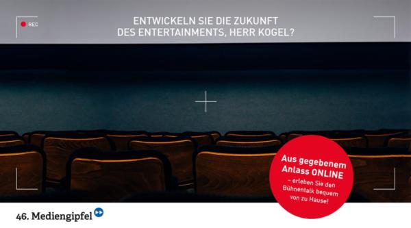 """46. Mediengipfel: """"Entwickeln Sie die Zukunft des Entertainments, Herr Kogel?"""""""