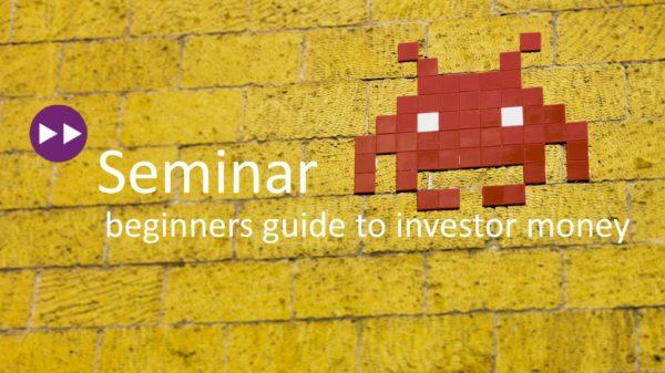 games:net seminar: Beginners guide to investor money