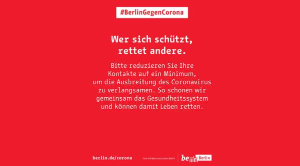 Berlin startet die Kampagne #BerlinGegenCorona