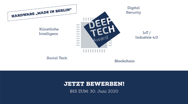 berlin.digital COOP: Deep Tech Award 2020