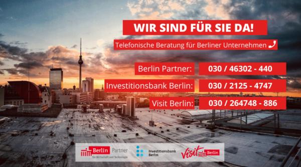 Berlin-Partner Hotline für Unternehmen