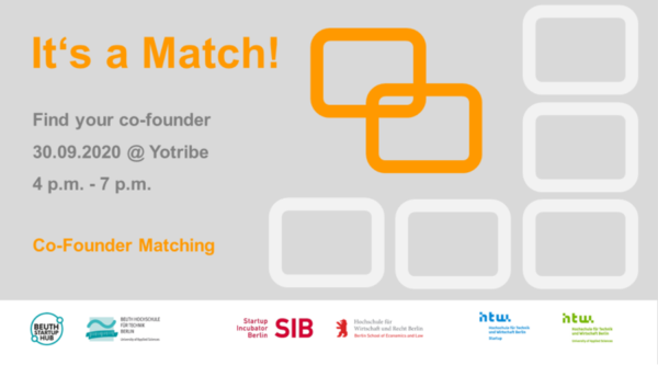 startup:net COOP: It's a Match – find your co-founder