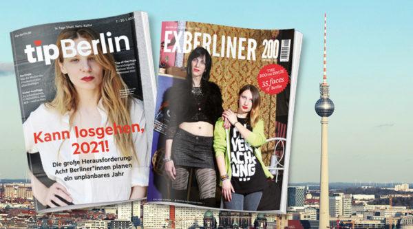 tipBerlin übernimmt Stadtmagazin EXBERLINER
