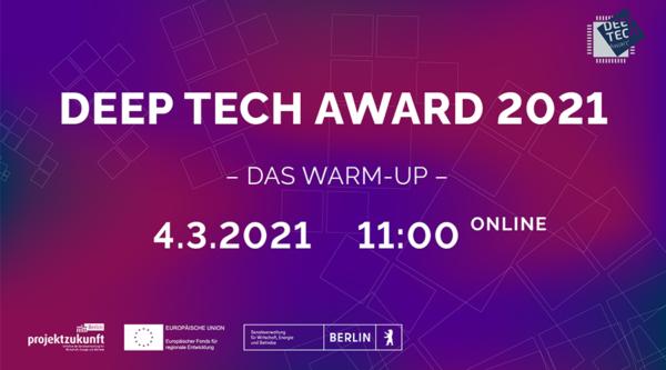 berlin.digital COOP: Deep Tech Award 2021 – Das Warm-up
