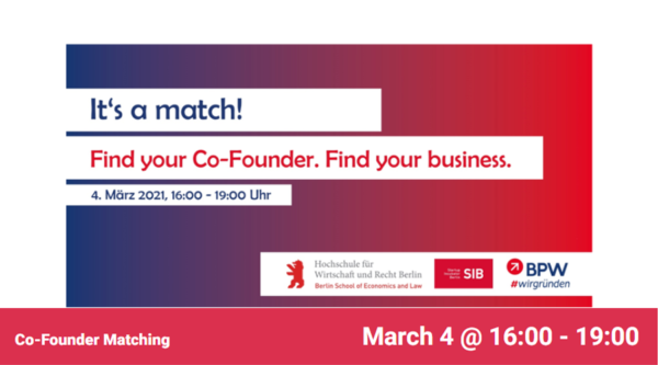 startup:net COOP: Co-Founder Matching