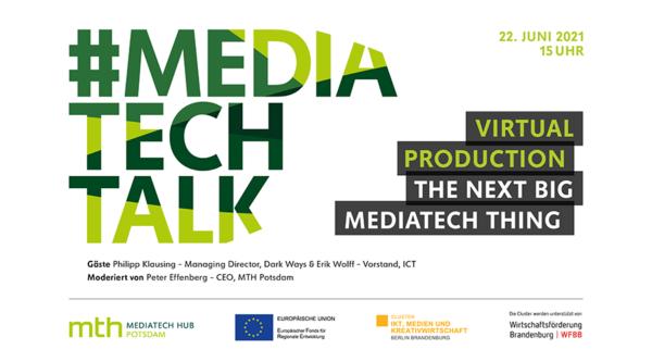 Eventkalender: #mediatechtalk | Virtual Production – The Next Big MediaTech Thing?