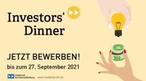 Bewerbungsaufruf zum Investors' Dinner #22