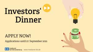 Application Deadline for Investors' Dinner #22