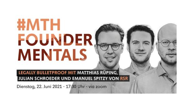 Eventkalender: MTH Foundermentals: Legally Bulletproof mit rsr Berlin