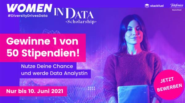 """Telefónica Deutschland / O2 und StackFuel vergeben 50 """"Women in Data""""-Stipendien"""