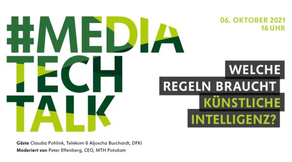 Eventkalender: #mediatechtalk | Welche Regeln braucht Künstliche Intelligenz?