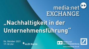 media:net EXCHANGE: Nachhaltigkeit in der Unternehmensführung