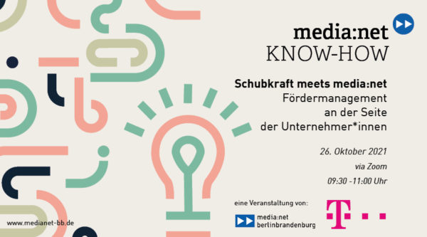 KNOW-HOW: Schubkraft meets media:net – funding management at the side of entrepreneurs
